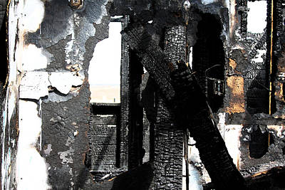 Burnt Collage Poster