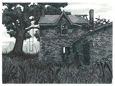 Burnt Out Farmhouse Poster