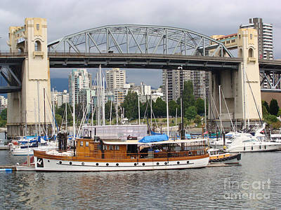 Poster featuring the painting Burrard Street Bridge, Vancouver by Rod Jellison