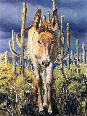 Burro Baby Blues Poster by Melody Perez