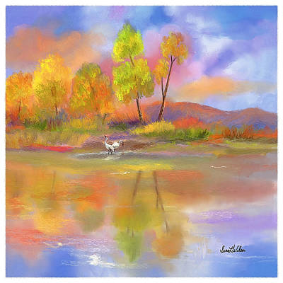 Poster featuring the painting Burst Of Autumn by Sena Wilson