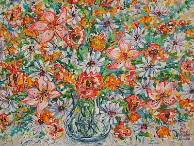 Burst Of Flowers Poster