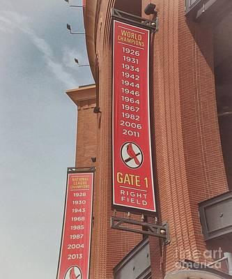 Busch Stadium - Cardinals Baseball Poster by Luther Fine Art