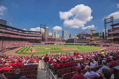 Busch Stadium St. Louis Cardinals Cardinal Nation Ballpark Village Day #2a Poster by David Haskett