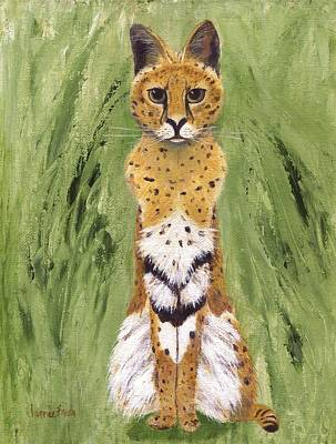 Poster featuring the painting Bush Cat by Jamie Frier
