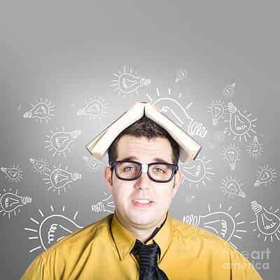 Businessman With New Education Idea Poster by Jorgo Photography - Wall Art Gallery