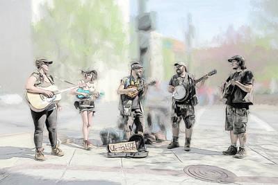 Busker Quintet Poster by John Haldane
