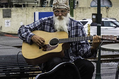 Busking In New Orleans, Louisiana Poster