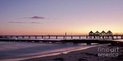 Poster featuring the photograph Busselton Jetty Sunrise by Ivy Ho