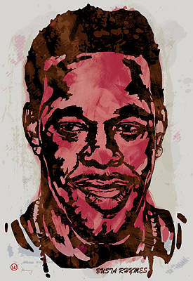 Busta Rhymes Pop Stylised Art Sketch Poster Poster by Kim Wang