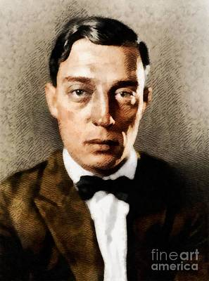 Buster Keaton, Hollywood Legend Poster by John Springfield