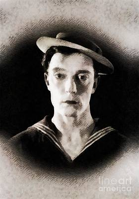 Buster Keaton, Vintage Hollywood Legend Poster by John Springfield