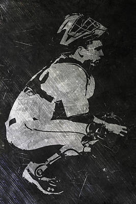 Buster Posey San Francisco Giants Art Poster by Joe Hamilton