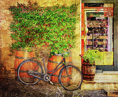 Poster featuring the photograph Butcher Shop Bicycle by Craig J Satterlee