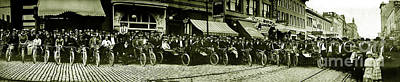 Butte Motorcycle Club Circa 1914 Poster by Jon Neidert