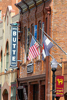 Butte Opera House In Colorado Poster by Catherine Sherman