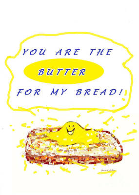 Poster featuring the drawing Butter For My Bread by Denise Fulmer