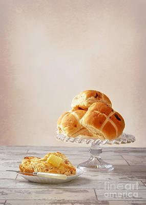 Buttered Hot Cross Bun Poster by Amanda Elwell