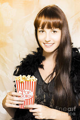 Buttered Popcorn At Showtime Poster by Jorgo Photography - Wall Art Gallery