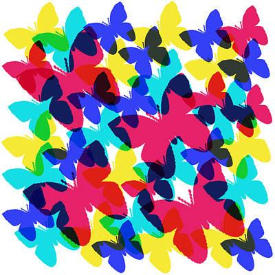 Poster featuring the digital art Butterflies by Bee-Bee Deigner