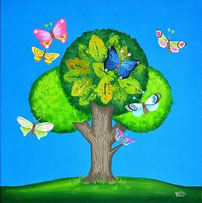 Butterflies Refuge Poster by Graciela Bello