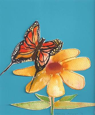 Poster featuring the painting Butterflower by Denise Fulmer