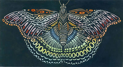 Butterfly Bits Poster by Anne Havard