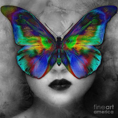 Butterfly Girl Poster by Klara Acel
