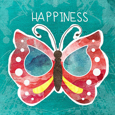 Butterfly Happiness Poster by Linda Woods
