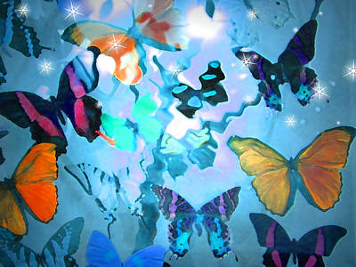 Poster featuring the photograph Butterfly Heaven by Rosalie Scanlon