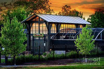 Butterfly House At Sunset Poster