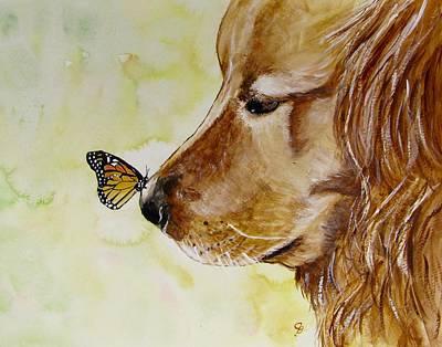 Butterfly Kisses Poster by Carol Blackhurst
