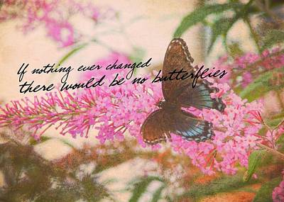 Butterfly Kisses Quote Poster