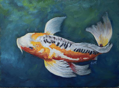 Butterfly Koi I Poster