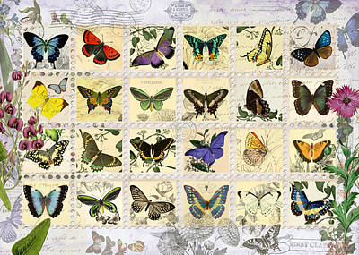Butterfly Maps Poster by Aimee Stewart