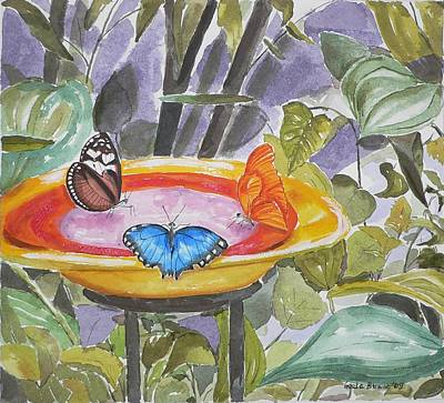 Poster featuring the painting Butterfly Sanctuary At Niagara Falls by Geeta Biswas