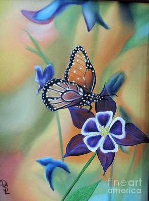 Poster featuring the painting Butterfly Series#4 by Dianna Lewis