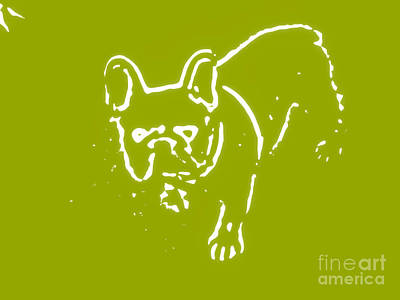 Denim The Frenchie Poster by Heather Joyce Morrill
