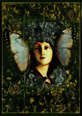 Butterfly Woman Poster