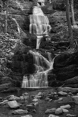 Buttermilk Falls In Black And White Poster by Raymond Salani III