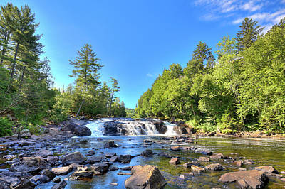 Buttermilk Falls In The Adirondacks Poster