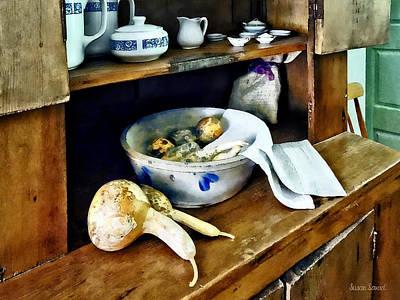 Butternut Squash In Kitchen Poster by Susan Savad