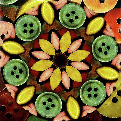 Buttons Abstract Poster by Bonnie Bruno