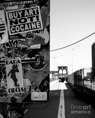Buy Art Not Cocaine Poster