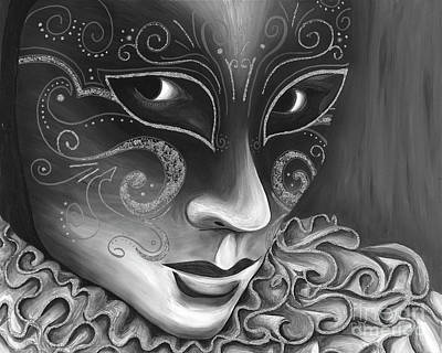 Bw- Carnival Mask Poster