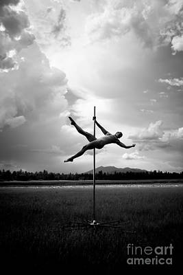 Bw Pole Dancing In A Storm Poster