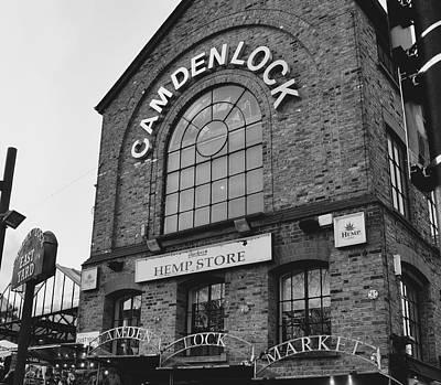 Bw Series Camden Lock Market Poster