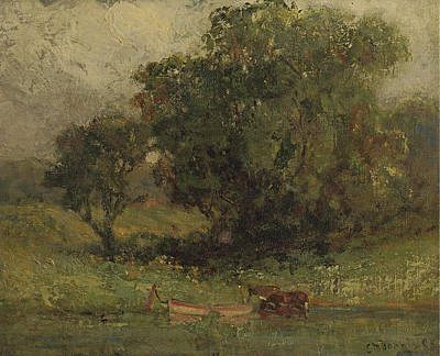 By The Lake Poster by Edward Mitchell Bannister