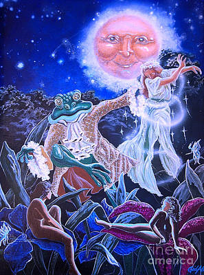Poster featuring the painting By The Light Of The Moon by Gail Allen