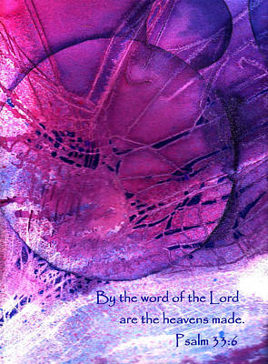 By The Word Of The Lord Are The Heavens Made Poster